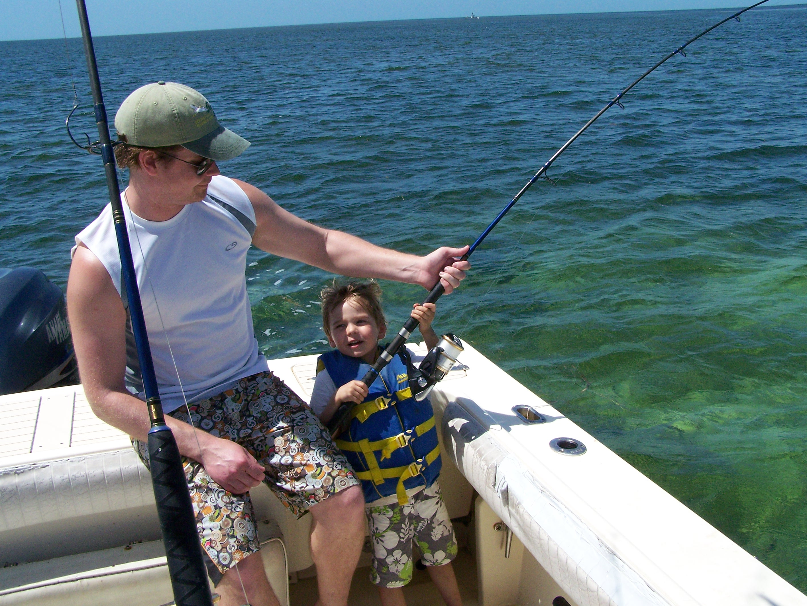 Close encounters of the shark kind in the florida keys for Florida keys fishing guides